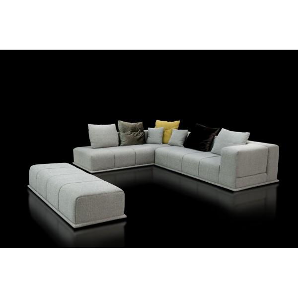 Leone Γωνιακός καναπές από μασίφ ξύλο οξιάς.